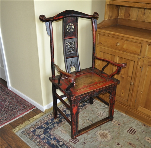 Chinese Antique Scholar Governor armchair - Antique Scholar Governor Armchair