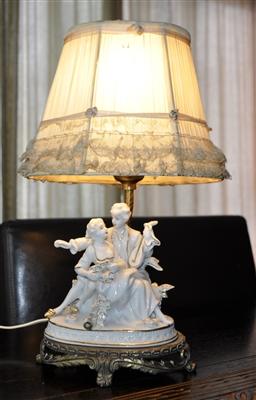 Boudoir Vintage Accent Lamp Porcelain Figures