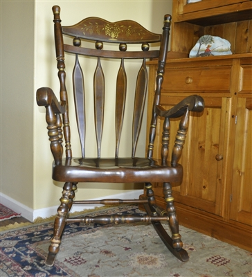 Large Vintage Wooden Rocking Chair