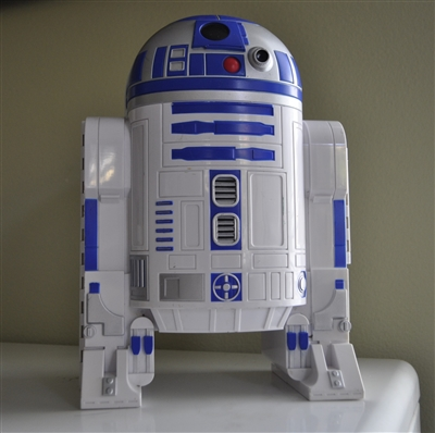 r2d2 toy cars plastic storage from 1998